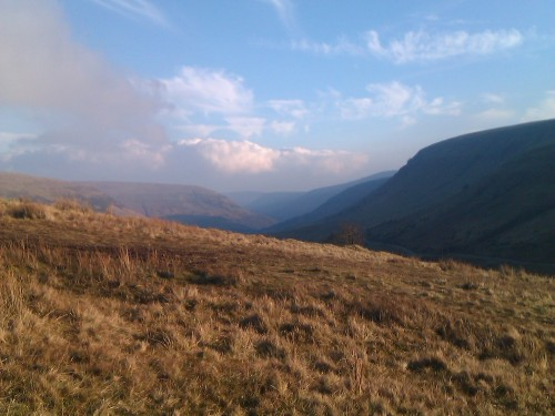 The ever nurturing Ewyas Valley, from Gospel Pass