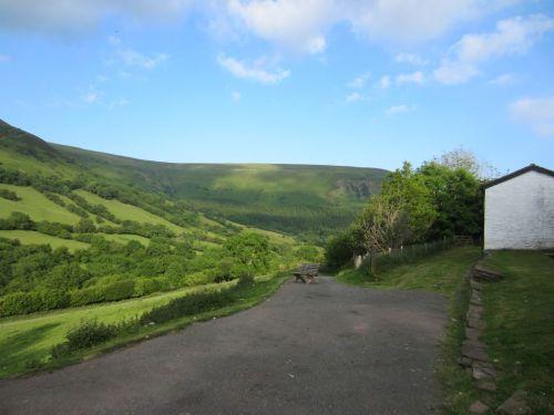 Offa's Dyke Path seen from Capel-y-ffin