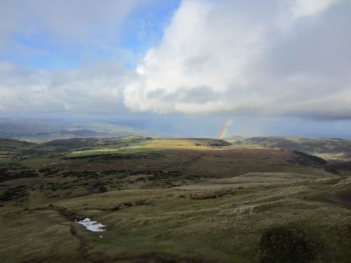 Rainbow and cloud over Hay-on-Wye