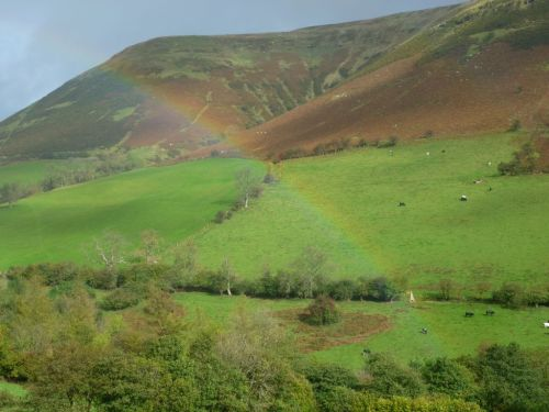 Rainbow in Ewyas valley, Black Mountains