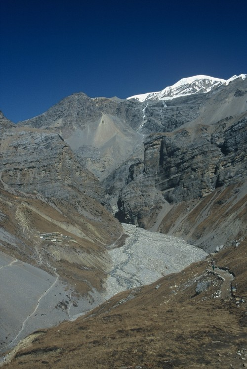 At 16000ft, heading towards the Thorung La on the Annapurna Circuit Oct 2000
